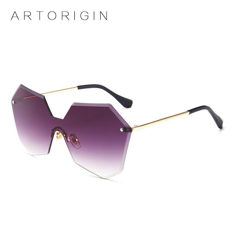 e82bd2371ac ARTORIGIN Oversized Women Sunglasses Tint Color Lens Siamese Gradient Sun  Glasses For Women Lunette Oculos Lady Eyewear AT206-in Sunglasses from  Apparel ...