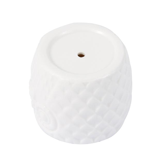 Ceramic Owl Shaped Pot and 3-Tier Bamboo Shelf