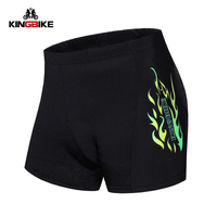 KINGBIKE Men Cycling Silica Gel Pad Shorts MTB Antibacterial Breathable Shorts Bike Briefs Underwear Bermuda Ciclismo