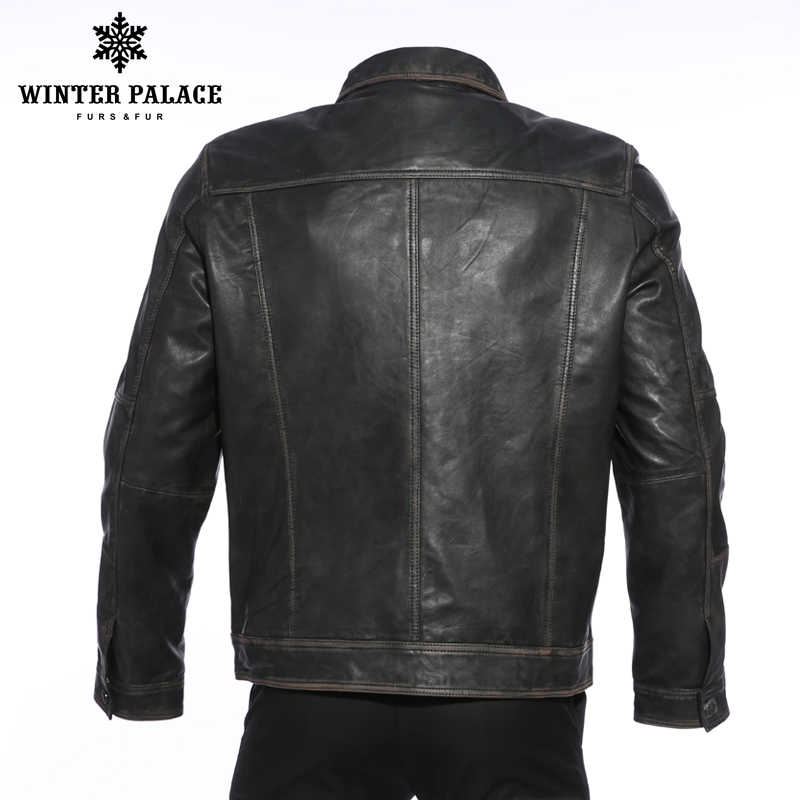 Ретро мужской локомотив воротник кожаная куртка мужская Студенческая модная кожаная куртка уличный стиль пальто мужская одежда молодой тренд