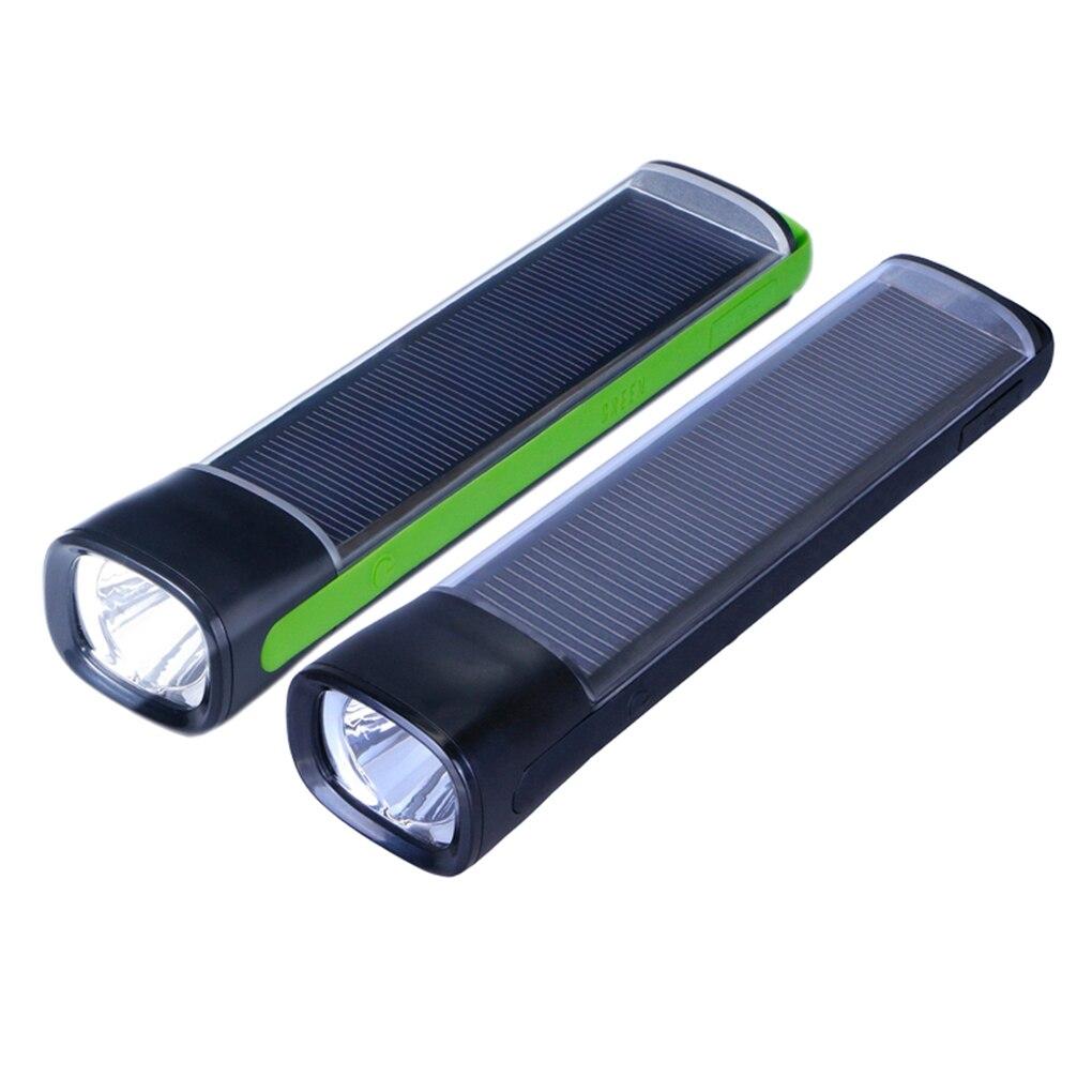 FangNymph  Portable Light 3W LED Flashlight USB/Solar Powered 4000mAh Power Bank Outdoor Camping Hiking Lamps