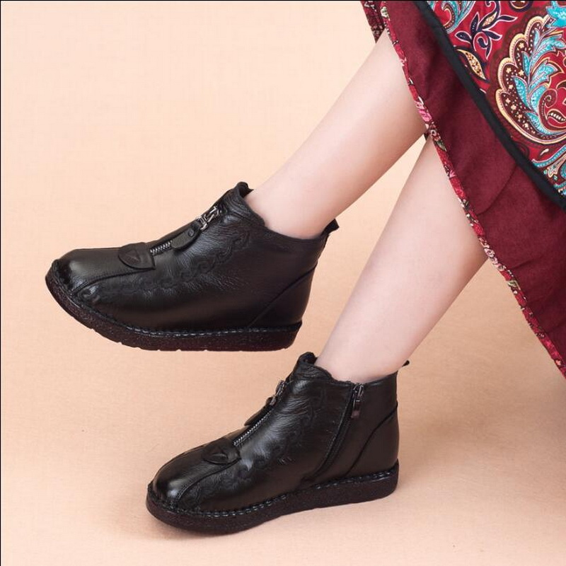 platform shoes women Winter Boots Handmade Woman Casual Shoes Full Genuine Leather Ankle Boots For Womenplatform shoes women Winter Boots Handmade Woman Casual Shoes Full Genuine Leather Ankle Boots For Women