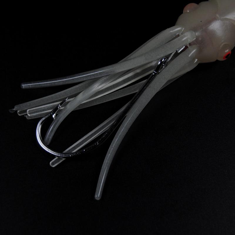 Elektronisk LED Blinkende Blæksprutte Jig Blød Lysende Blæksprutte - Fiskeri - Foto 3
