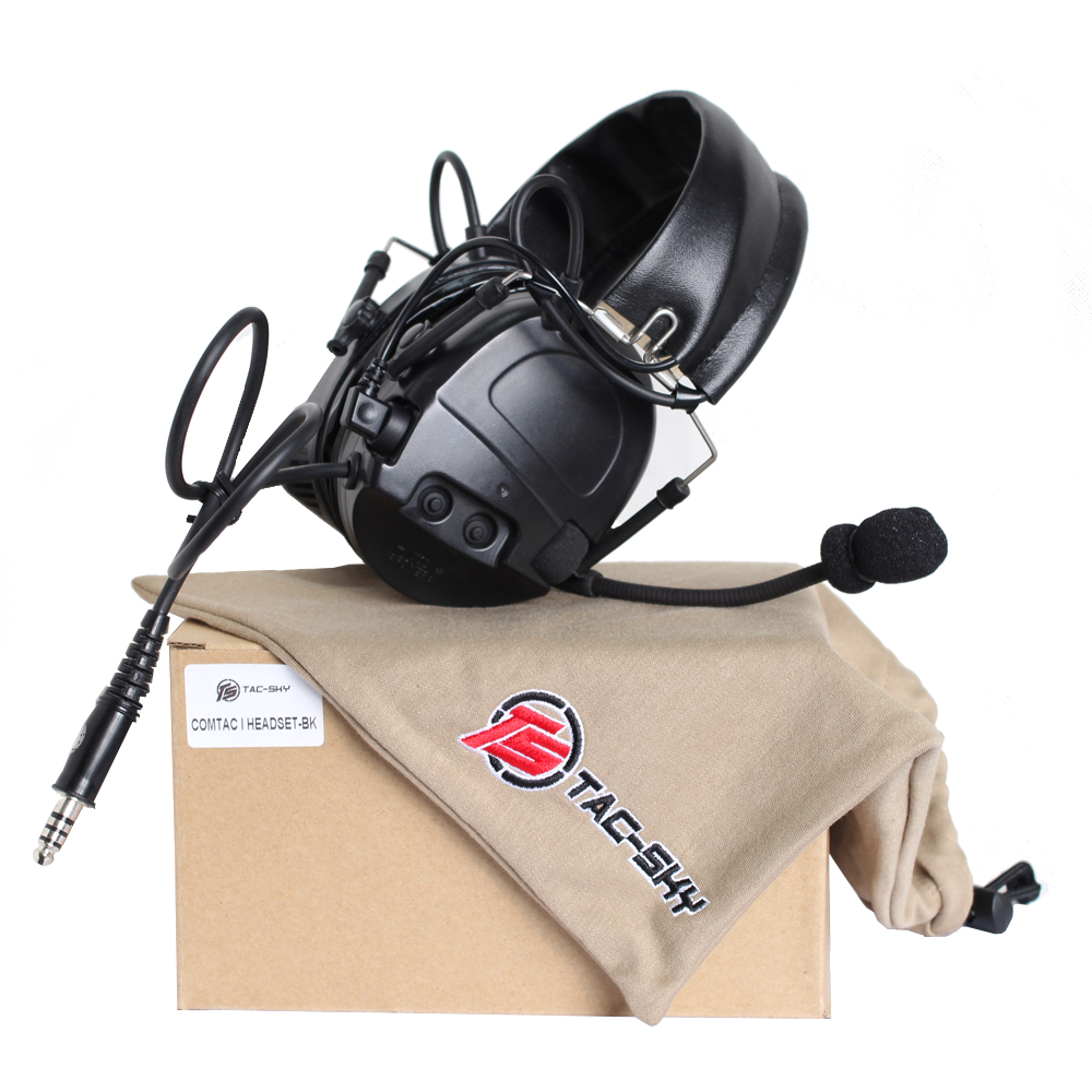 Tactical Earphone TAC-SKY COMTAC I Silicone earmuff version Noise reduction pickup headset   Tactical Earphone TAC-SKY COMTAC I Silicone earmuff version Noise reduction pickup headset