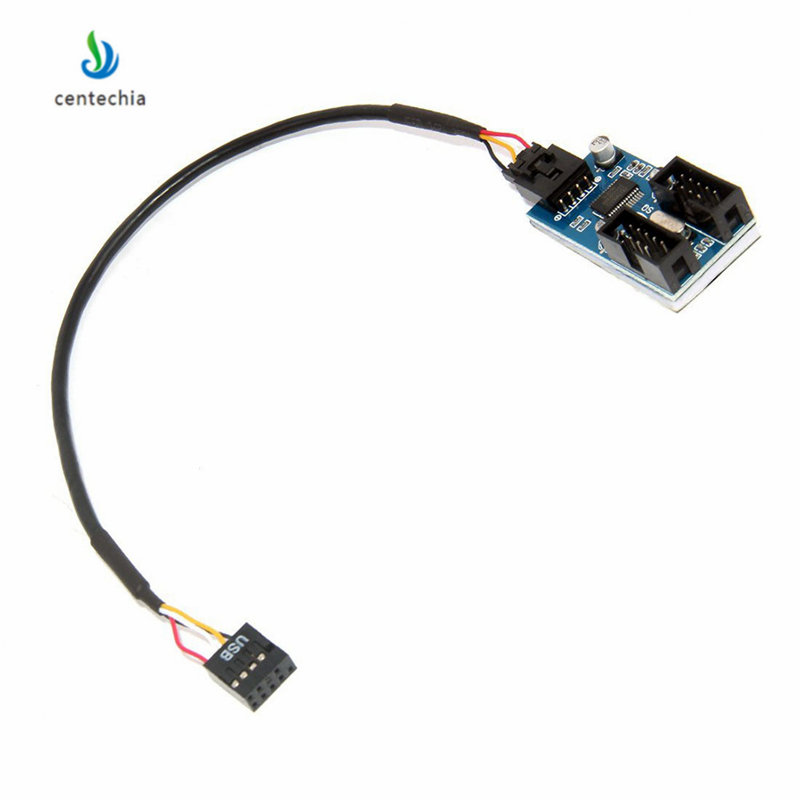Image 4 - Centechia 1 PCS Motherboard USB 2.0 9Pin 1 to 4 Splitter Extension PCB Chipset PC Case Internal Enhanced Extender gadget JSX-in Computer Cables & Connectors from Computer & Office