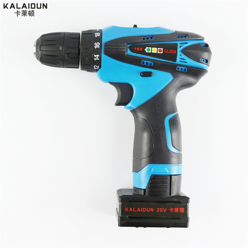 ФОТО KALAIDUN 25V DC New Design Mobile Power Supply Lithium Battery Cordless Drill Power Tools Mini Drill Electric Drill