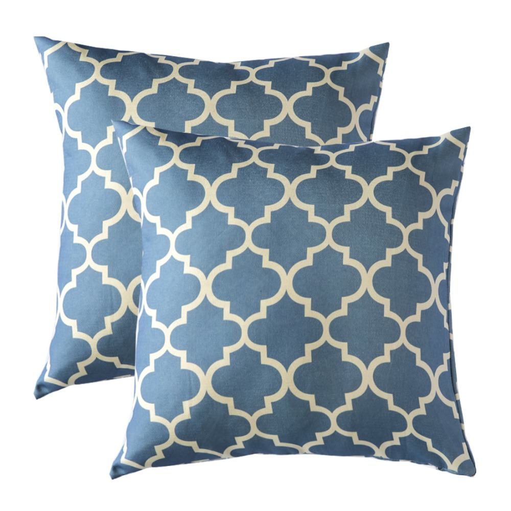 2 pack decorative throw pillows wholesales pillows cushion grey blue green cushion cover home. Black Bedroom Furniture Sets. Home Design Ideas