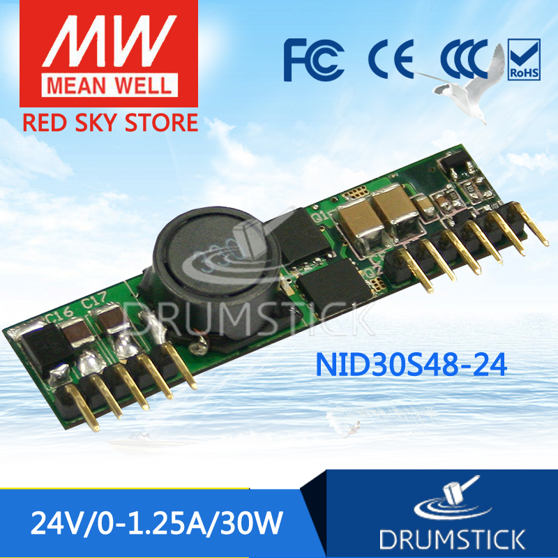 Advantages MEAN WELL NID30S48-24 24V 1.25A meanwell NID30 24V 30W DC-DC Non-isolated Single Output Converter стоимость