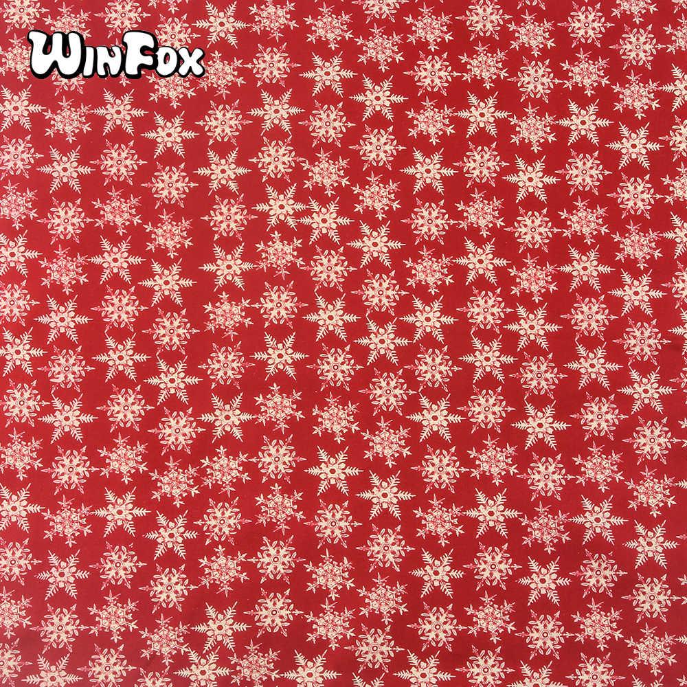 Winfox Moda % 100% Pamuk Kırmızı Kar Tanesi Kadın Baskı Kafa Bandı Erkekler Saç Atkı Kare Maskeli Bandana Unisex Şapkalar