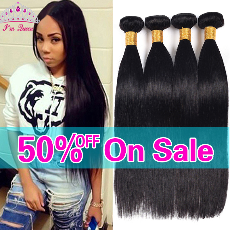 7A Peruvian Virgin Hair Straight 4 Bundles Peruvian Straight Virgin Hair 100% Human Hair Peruvian Straight Human Hair Weaves