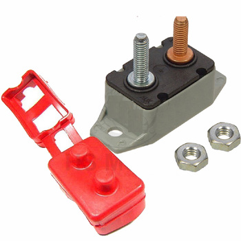 цена на 12V 30A/40A/50A stud line protector red protective cover self-recovery overload fuse