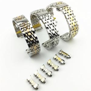 Image 4 - Universal Stainless Steel 7 Beads Watch Strap Watch Band 18mm 19mm 20mm 21mm 22mm 23mm 24mm Watchband for Samsung Galaxy Watch