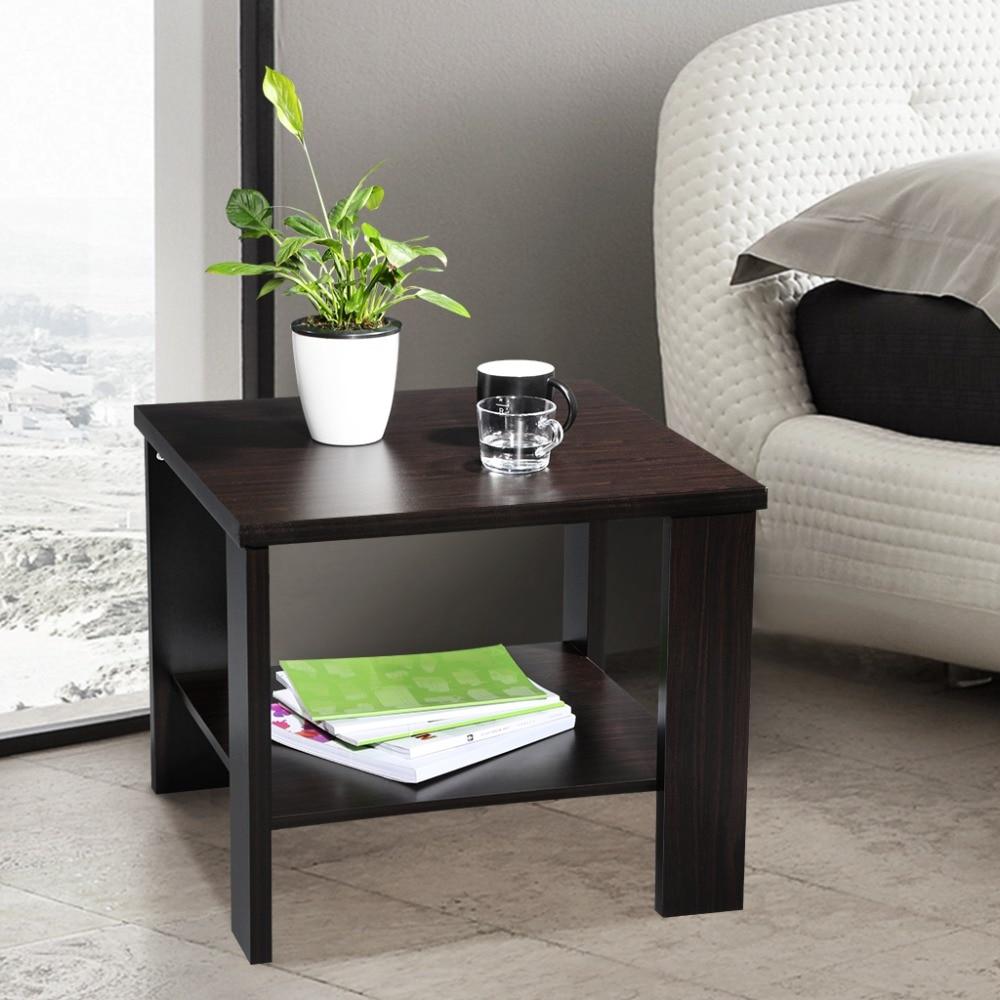 Modern Coffee Table For Sectional: LANGRIA Modern Minimalist Square Coffee Tea Side Sofa End