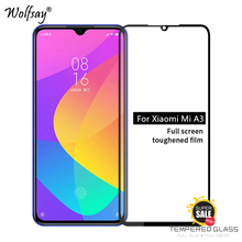 2PCS Full Glue Cover Glass For Xiaomi Mi A3 Screen Protector Tempered Phone Film <