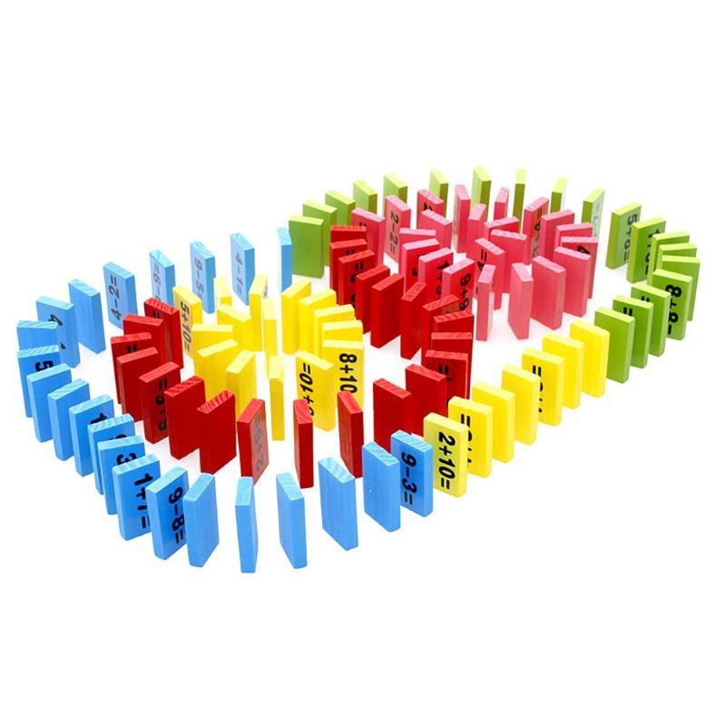 110 Teile/satz Holz Domino Spielzeug Kinder Spielzeug Farbige Domino Blöcke Kits Frühen Lernen Dominosteine Spiele Pädagogisches Kinder Spielzeug Vertrieb Von QualitäTssicherung Gebäude & Konstruktionsspielzeug Domino