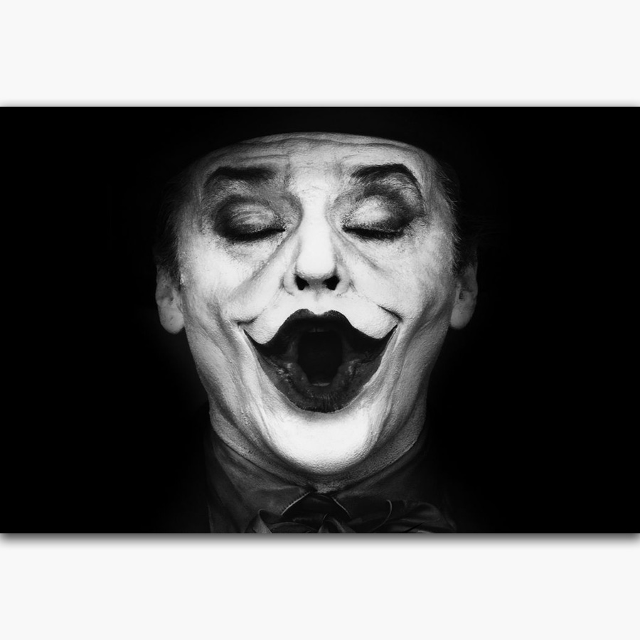 Mq3184 batman the joker jack nicholson black white vintage hot art poster top silk canvas home