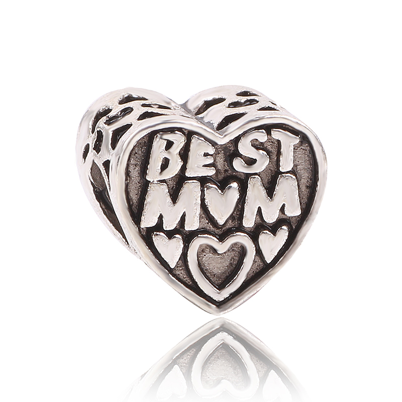 dodocharms Christmas Gift 1pc Best Mom Charm Bead Fits European Pandora Charm Bracelets Mothers Day Gift ...