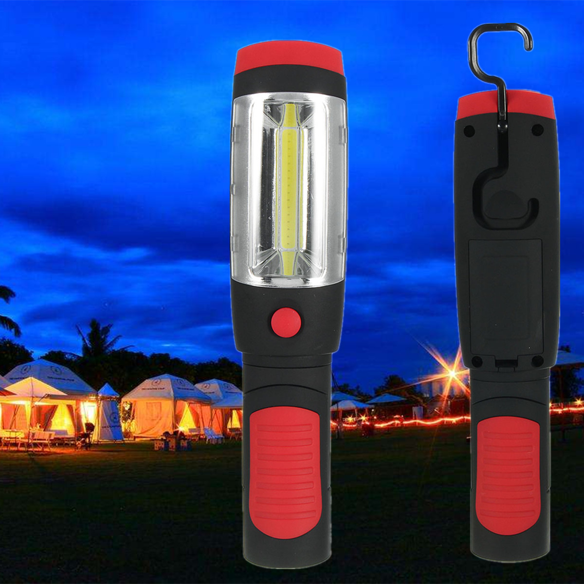 Led Flashlights Led Lighting Strict 3w Cob And 1w Led Flashlight Inspection Lamp Torch Work Emergency Light With Magnetic Hook For Camping Fishing Repair Car Skillful Manufacture