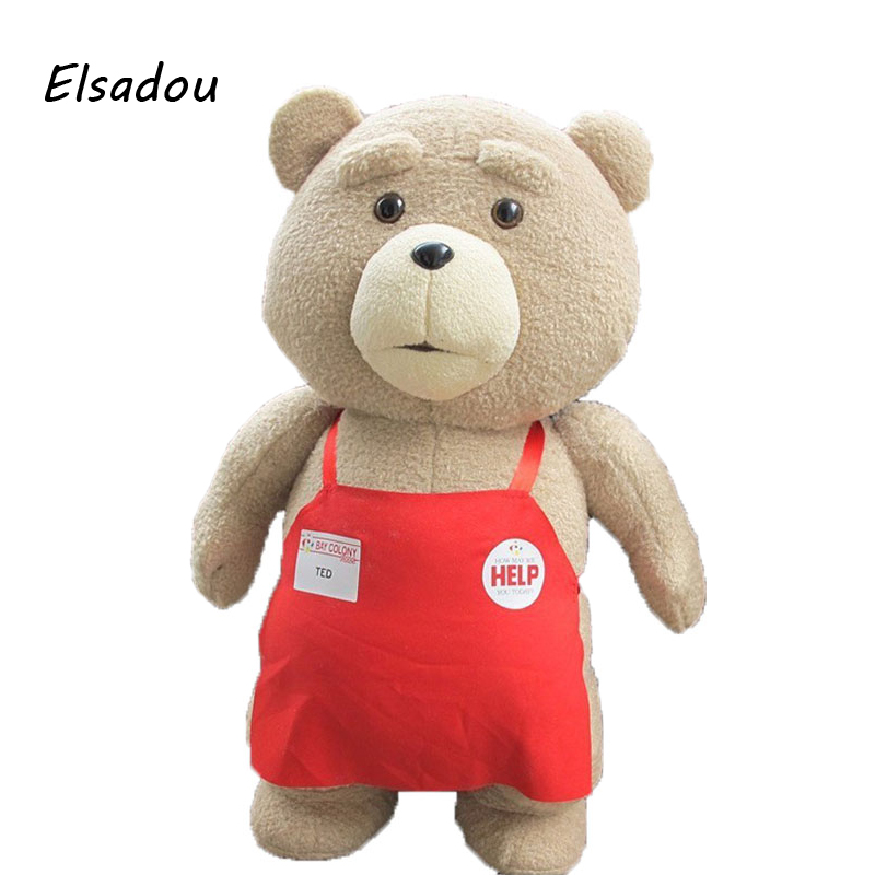 2018 Movie Teddy Bear Ted 2 Plush Toys Soft Stuffed Animals & Plush 2016 movie teddy bear ted 2 plush toys in apron soft stuffed animals plush 45cm