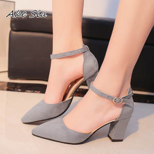 Shoes Female Sandals High-Heels Pointed Autumn Sexy Summer Flock Mujer S040 Femeninas