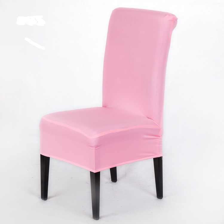 Цветная обеденная накидка на стул из спандекса стреч эластичные чехлы на кресла для свадебной вечеринки домашний деко чехол на стул
