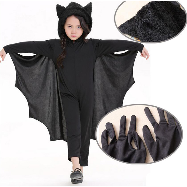 New Halloween Cute Bat Costume for Kids Girl and Boy Black Zipper Jumpsuit Connect Wings Batman  sc 1 st  AliExpress.com & New Halloween Cute Bat Costume for Kids Girl and Boy Black Zipper ...