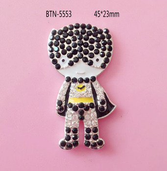 Free shipping rhinestone batman button 50PCS---Also can choose pendant style (BTN-5553)