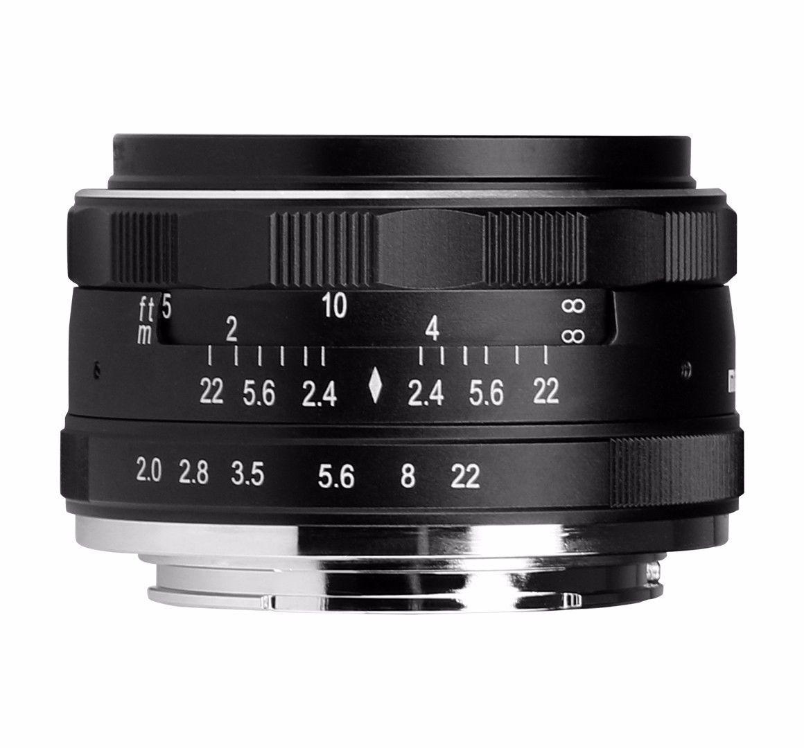 50mm F2.0 Aperture Manual Focus Lens APS-C for Canon EOSM M2 M3 camera 50mm f2 0 aperture manual focus lens aps c for eosm nikon1 m43 sony e mount nex3 5t 6 7 a5000 a6000 a6300 fuji xt1 camera