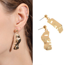 Brooches Pins 1PC/1Pair Vintage Abstract Face Mask Metal Earrings Golden Pendant Necklaces