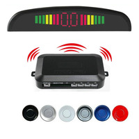 Wireless Parking Sensor Kit 4 Buzzers LED display Car parktronic Assistance Auto Reverse Backup Radar Monitor System detector