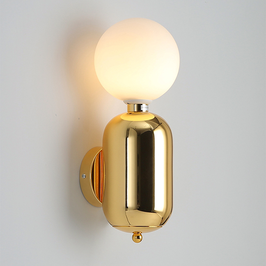 BEIAIDI Nordic Glass Ball Bedroom Bedside Wall Light Luxury Gold Stair Aisle Corridor Background Lamp Bathroom Mirror Wall LampBEIAIDI Nordic Glass Ball Bedroom Bedside Wall Light Luxury Gold Stair Aisle Corridor Background Lamp Bathroom Mirror Wall Lamp