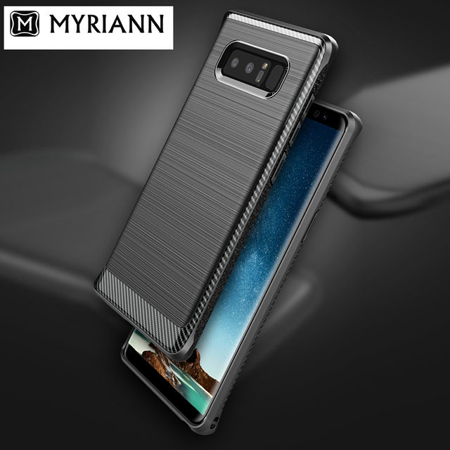 pretty nice 0baf7 3e993 Aliexpress.com : Buy For Samsung note 8 case cover Myriann original Note 8  case for samsung galaxy note 8 back case full cover gray blue from Reliable  ...