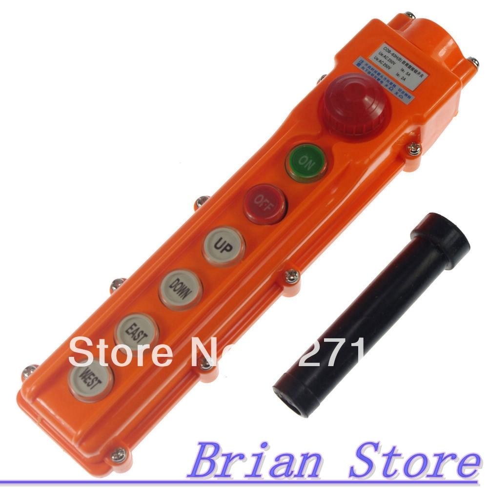 COB-63BH For Hoist Crane Pendant Control Station Push Button Switch Emergency перец чипотле san marcos копченый халапеньо в соусе адобо 312 г