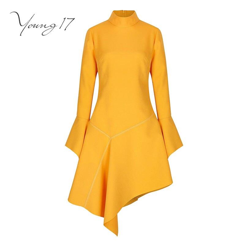 Aliexpress Com Buy Elegant Flare Sleeve Wedding Dress: Aliexpress.com : Buy Young17 Vintage Dress Yellow Women