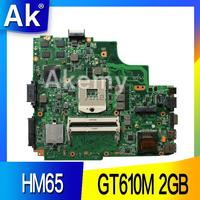 AK K43SD laptop Motherboard Para For Asus A43S K43S A84S K43SD Mainboard 100% OK HM65 GT610M 2GB