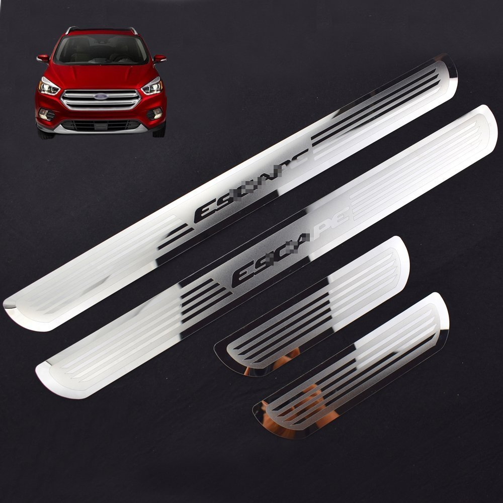 Car Door Sills for Ecape Stainless Steel Door Sill Scuff Plate for Ford ESCAPE 2014-2017 sports car door sill scuff plate guard sills for 2014 mazda 6 atenza m6
