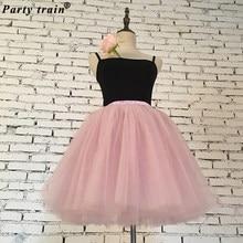 9f889001c2a Юбки для женщин для s 7 слоев миди Тюлевая юбка модные юбки пачки бальное  вечерние платье