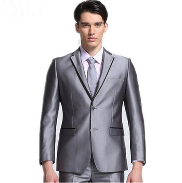 Skinny Groom Tuxedos Wedding Suit groom wear suits mens slim fit ...