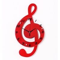 Luminousness The Notes Decoration Wall Clock Modern Brief Rustic Fashion Clock Silent Watch Gift
