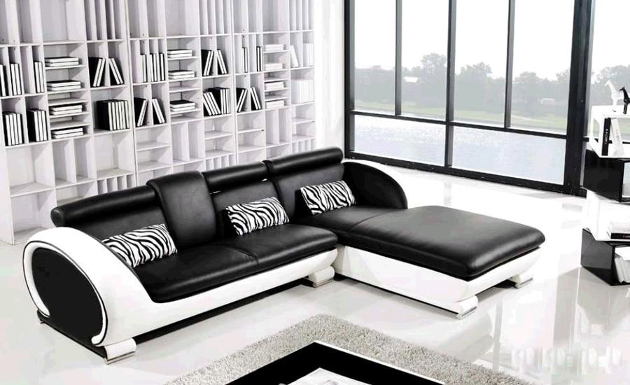 moderno divano in pelle-acquista a poco prezzo moderno divano in ... - Divano In Pelle Nera Letto