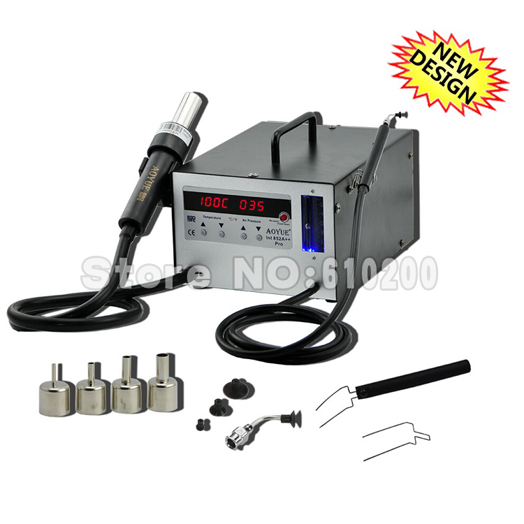 NEW 220V AOYUE 852A++ SMD Hot Air Gun Soldering station/Desoldering Station,Aoyue852A++ Hot Air Rework Station