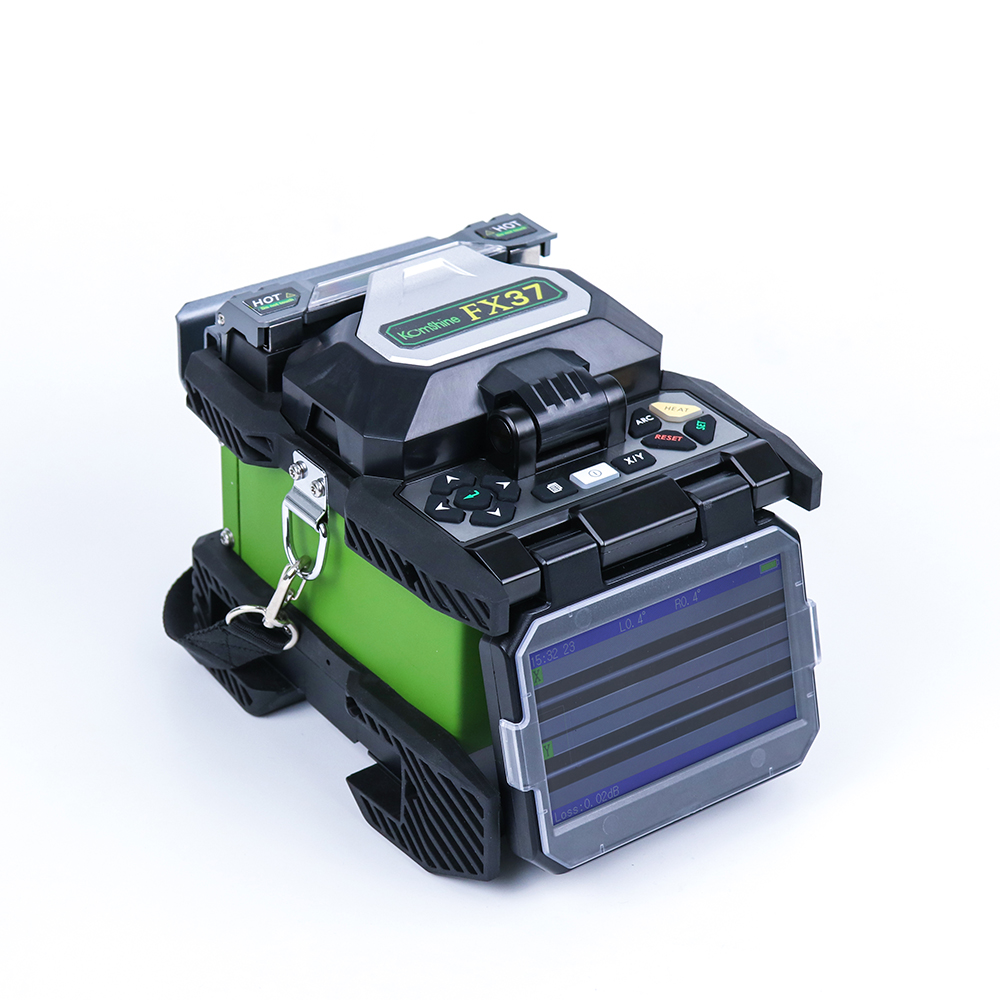 Fiber Optical Core Alignment Fusion Splicer Komshine FX37 with KF-52 Cleaver 72,000 cleavers