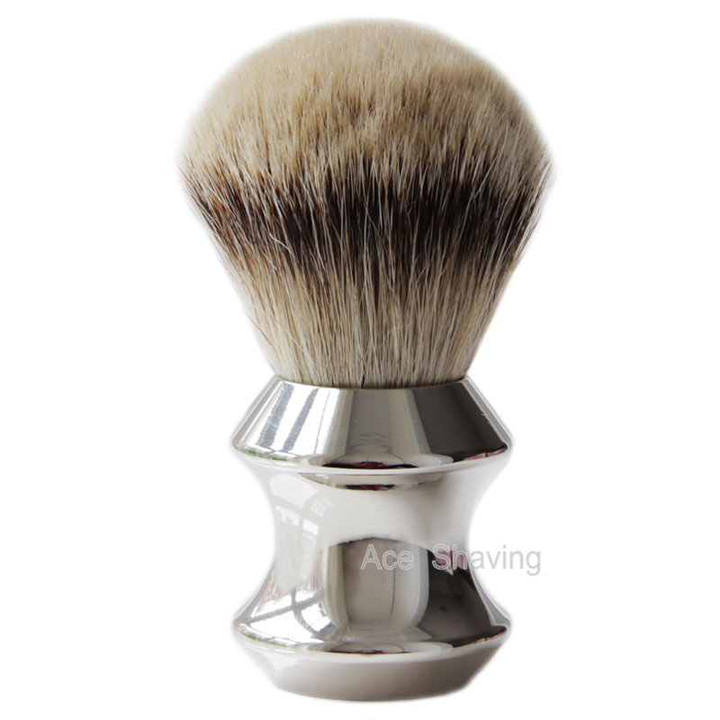 Big Size Silvertip Finest Badger Hiar Shaving Brush Knot size 28mm Heavy Metal Stainless Handle Man