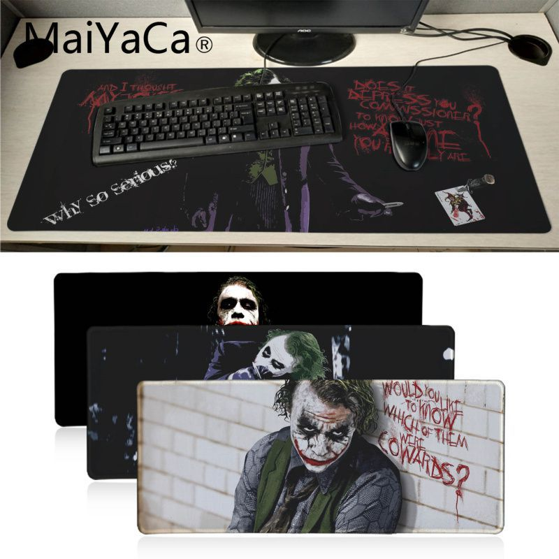 Maiyaca Batman Arkham City Joker Heath Ledger Mousepad Gaming Mouse Pad Xl Speed Keyboard Mouse Mat Laptop PC Notebook Desk Pad