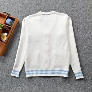 Image 5 - 2017新かわいいペンギンベビー刺繍カレッジスタイル日本姉妹jk制服ニットニットカーディガンセーターブルー & ホワイト