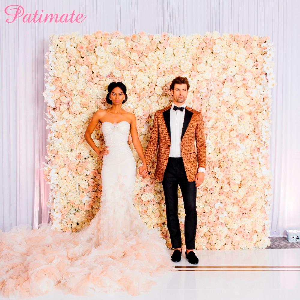 Wall Decoration Ideas Wedding: PATIMATE 40*60cm Rose Silk Flower Wall Wedding Decoration