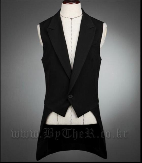 M-5XL Korea New men Singer Slim suits vest personality non-mainstream irregular novelty tuxedo vest costume plus size clothing