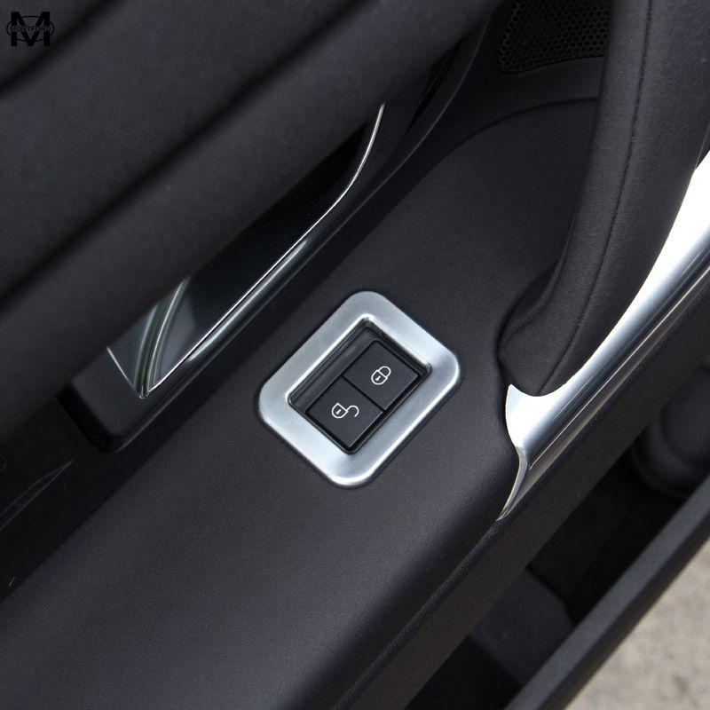 MONTFORD pour Land Rover Discovery Sport 2015 2016 2017 ABS mat sécurité enfant serrure de porte capots de bordure bande de moulage intérieur 4 pièces