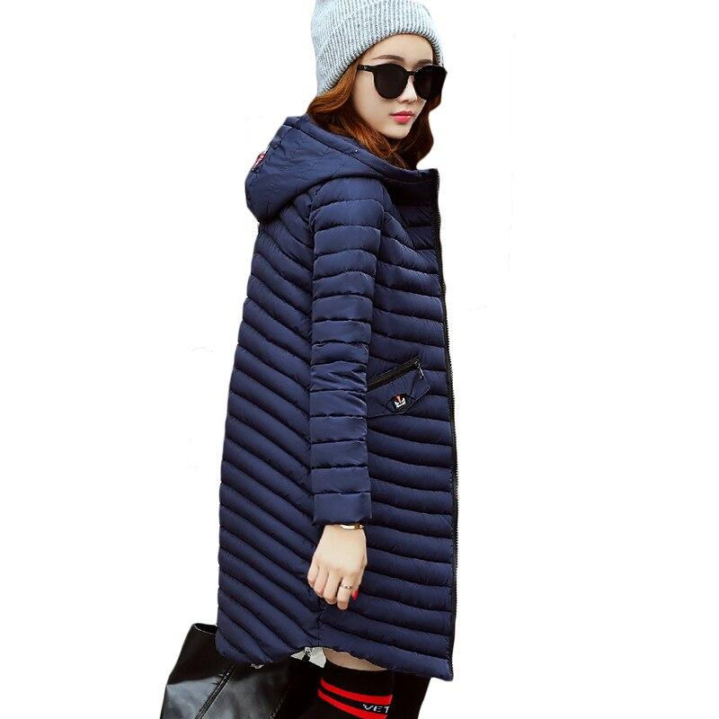 5 Colors 2017 Winter New Women Midi Warm Parkas Trendy Ladies Female Slim Zipper Pockets Jacket Coat Hooded Coats Hot XH558 winter wimmelbuch midi ausgabe