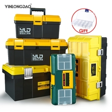 Large Toolbox Household Maintenance Electrician Tool Box Multifunctional ABS Hardware Auto Car Repair Thicken Anti-fall Toolbox цены